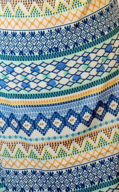 Spring Colored Aztec Like Pattern Print Synthetic by FabricsnLace