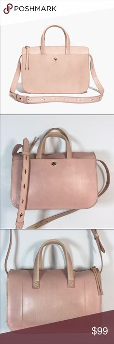 be900eeaf082 Madewell Montreal Satchel Bag Madewell Montreal Satchel Bag Color  Light  Pink Condition  Discoloration back
