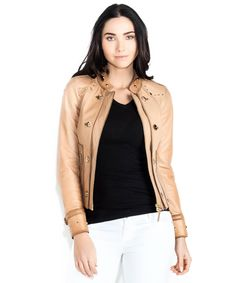 4520bd41114 Gucci nude leather jacket is wearable in any situation.  lt 3 Outlet77  Winter Wear