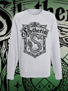 Raglan grey slytherin Classic hogwarts di DaiquisCraftRoom su Etsy