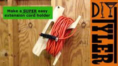 Extension Cord Reel from scrap wood 011 - YouTube