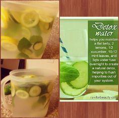 Detox Water Tips Fruit Drinks, Detox Drinks, Beverages, Healthy Detox, Get Healthy, Healthy Drinks, Healthy Tips, Fitness Diet, Health Fitness