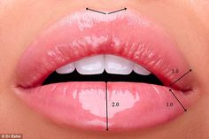 The new ratio: Dr Esho claims the must-have look in 2017 comprises a thicker bottom lip, w...