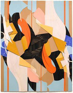 """Jim Gaylord """"Heals Itself"""" gouache on cutout paper 2013"""