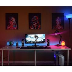 "427 Likes, 3 Comments - Mal - PC Builds and Setups (@pcgaminghub) on Instagram: ""Damn @itsyaboichristian_ has an awesome setup! I love the blue LED underglow and the purple lamp…"""
