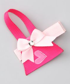 Take a look at this Pink Handbag Clip by Bubbly Bows on #zulily today!