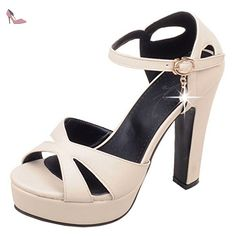 COOLCEPT Femmes Ete Platfrom Espadrilles Chaussures