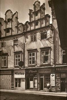 Husova street, Prague, late 40's, photo by Stech/Ehm