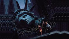 John Carpenter's Escape from New York had a North American One-Sheet that was illustrated by Chuck Foxen. Escape from New York is one of the best action flicks you will ever see. Iconic Movies, Great Movies, New York Poster, Cool Posters, Movie Posters, Theatre Posters, Sci Fi Fantasy, Illustrations, Action Movies