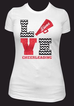 love lions cheerleading spirit wear cheer t shirt idea with chevron pattern and megaphone more custom apparel ideas at - School Spirit T Shirt Design Ideas