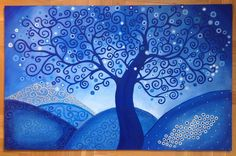 Acrílico El gran árbol www.Cuadritosdecolores.bigcartel.com