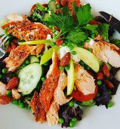 #cafetur #livsstilændring #vægttab #fisk #laks  #salat #hygge #mad #food #mandler