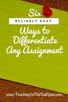Differentiate is likely a word you have heard about a million and one times if you are a teacher. We hear weneed to differentiate assignments for our students, but no one really takes the time to explain what that looks like in the classroom. Differentiation Strategies, Differentiation In The Classroom, Teaching Strategies, Teaching Tips, Flipped Classroom, Inclusion Classroom, English Classroom, Rubrics, Differentiated Instruction Strategies