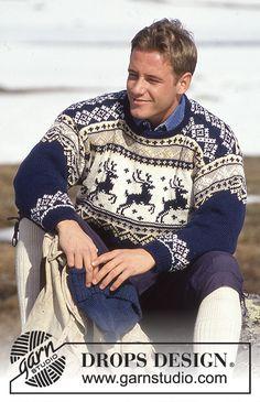 New Knitting Men Sweater Pattern Drops Design Ideas Fair Isle Knitting, Free Knitting, Baby Knitting, Free Crochet, Christmas Knitting, Christmas Sweaters, Crochet Christmas, Reindeer Sweater, Sweater Knitting Patterns