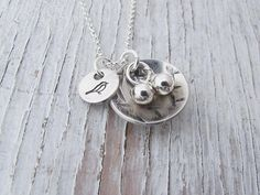 Sterling Silver Bird Nest Necklace Nest Egg Necklace Hand
