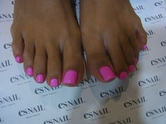 The perfect Barbie pink toe nail color.