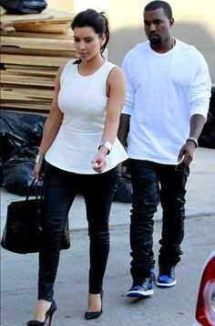 Kim Kardashian in #JBrand Leather Pants.  GET YOURS: http://www.revolveclothing.com/Brands.jsp?search=J+Brand