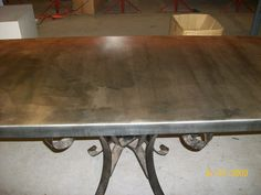 13 - 50mm Zinc Table Top withLight Patina