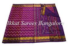 Handwoven Ikkat patola silk saree in double shaded magenta pink & brick red. Code: ISB7001 Write to ikkatsareesbangal... or inbox the message. Contact : +918792177606 www.facebook.com/ikkatsareesbangalore