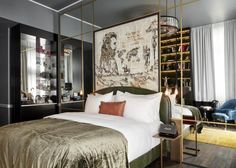 Sir Savigny is a beautiful boutique hotel in Berlin. Chic Retreats members receive hotel discounts and other benefits when booking Sir Savigny online. Paris Bars, Master Bedroom, Bedroom Decor, Gravity Home, Hotels, Perfect Pillow, Eclectic Style, Art Nouveau, Mid-century Modern