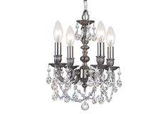 Gramercy 4-Light Mini Chandelier, Pewter
