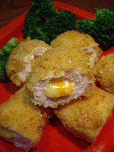 Ritz cracker coated chicken cutlets