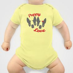 Puppy Love. Onesie by Lulo The Boston Terrier - $20.00