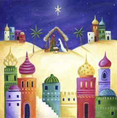 Leading Illustration & Publishing Agency based in London, New York & Marbella. Christmas Art, Christmas Projects, We Three Kings, Bible Art, Islamic Art, Painting Inspiration, Cute Art, Art Lessons, Advent