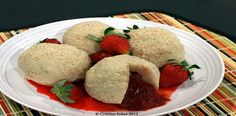 strawberry_dumplings made with curd cheese (quark?).  Wow!  is this outside my repetoire.