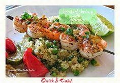 broiled shrimp with quinoa | wineladycooks.com #fedupchallenge #noaddedsugar #healthy