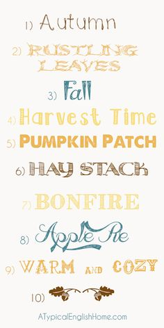 Fonts For The Autumn (Fall)