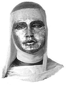 King Baldwin IV is never depicted in any contemporary source as masked.
