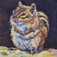 Patricia A Griffin, Chipmunk,Wild Life, Ground Squirrel, animal,oil painting