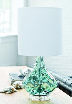Gem of a lamp! We are loving this base. Perfect for a sea-themed decor - urbanladder.com #lampsfordecorating