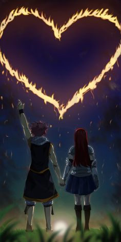 Natsu x Erza by Suihara on DeviantArt Fairy Tail Juvia, Fairy Tail Erza Scarlet, Fairy Tail Art, Fairy Tail Guild, Fairy Tail Ships, Fairy Tail Anime, Fairy Tales, Anime Couples Manga, Cute Anime Couples