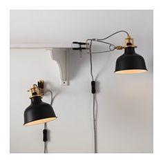 RANARP Vägg-/klämspot, svart - - - IKEA