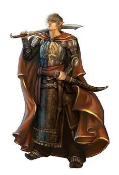 aroundof/in/influenced by Hule [Male Half-Elf Cleric of Sarenrae - Pathfinder PFRPG DND D&D ed fantasy] Elf Characters, Dungeons And Dragons Characters, Fantasy Characters, Fantasy Figures, Fantasy Male, Fantasy Armor, Medieval Fantasy, Fantasy Heroes, Character Concept