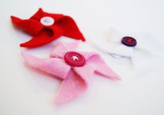 A cute pinwheel hair clip tutorial from Simple Crafter.