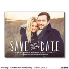 Whimsy | Save the Date Postcard, photo save the date, save the date ideas, simple save the date, photo save the date ideas