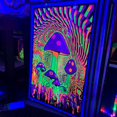 hippie painting ideas 215187688432458968 - Mind Melt Mushroom Blacklight Poster🤩🍄 Source by thehippieshop Hippie Bedroom Decor, Hippy Bedroom, Hippie Painting, Trippy Painting, Black Light Room, Trippy Tapestry, Room Tapestry, Cool Tapestries, Trippy Drawings
