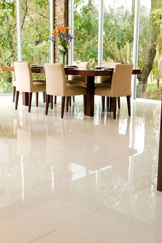 Renovate your flooring with #PorcelainTiles and earn the shine under your feet for many years.