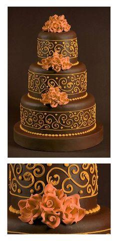 wedding cake by Hizon's Catering