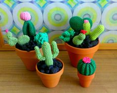 Cute Crocheted Cacti • Make an ornament in under 180 minutes #howto #tutorial