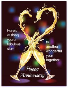 Anniversary Wishes Champagne Toast