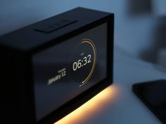 Alarm Clock concept designed by Andreas Frank. the global community for designers and creative professionals. Mingyu, App Design, Icon Design, Geeks, Bedside Clock, Playstation, Craft Storage, Design Process, Industrial Design