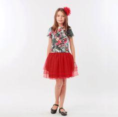 ROCHITA CU TUL ROSU - ROCHITA ANIVERSARE Special Occasion, Girls Dresses, Satin, Skirts, Fashion, Tulle, Dresses Of Girls, Moda, Skirt