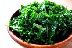 "You know the vegetable that I am referring to - KALE. Kale is on every list for ""healthiest vegetable"". Healthy Food List, Healthy Snacks, Healthy Eating, Real Food Recipes, Vegan Recipes, Diet Recipes, Candida Recipes, Massaged Kale Salad, 200 Calorie Meals"