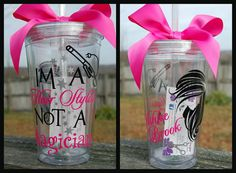 Hair Stylist or Beautician tumbler  16oz by lyricalletters on Etsy, $16.00