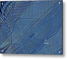 Tangled Up In Blue Acrylic Print By Janet Russell Framed Prints, Canvas Prints, Tangled, Fractals, My Arts, Tapestry, Artist, Artwork, Blue