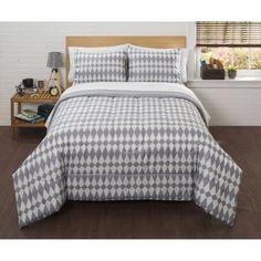 American Original Grey Ethan Ikat Bed in a Bag Bedding Comforter Set